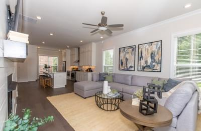 Meyers Home Design Atlanta, GA New Home Family Rooms