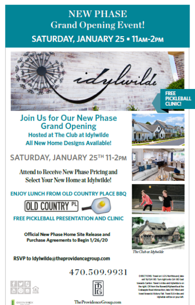 Event Reminder: New Phase Grand Opening this Weekend at Idylwilde