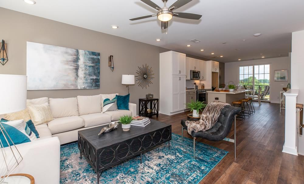 Crawford Home Design Family Room. New Home in Alpharetta, GA