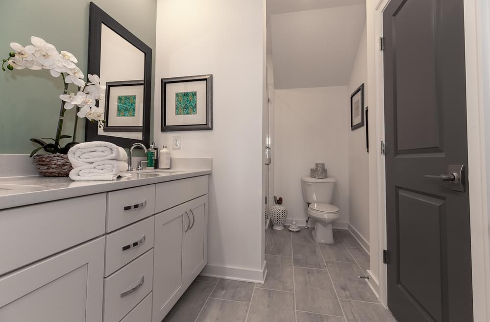Crawford Home Design Owner's Bath. The Crawford New Home in Alpharetta, GA