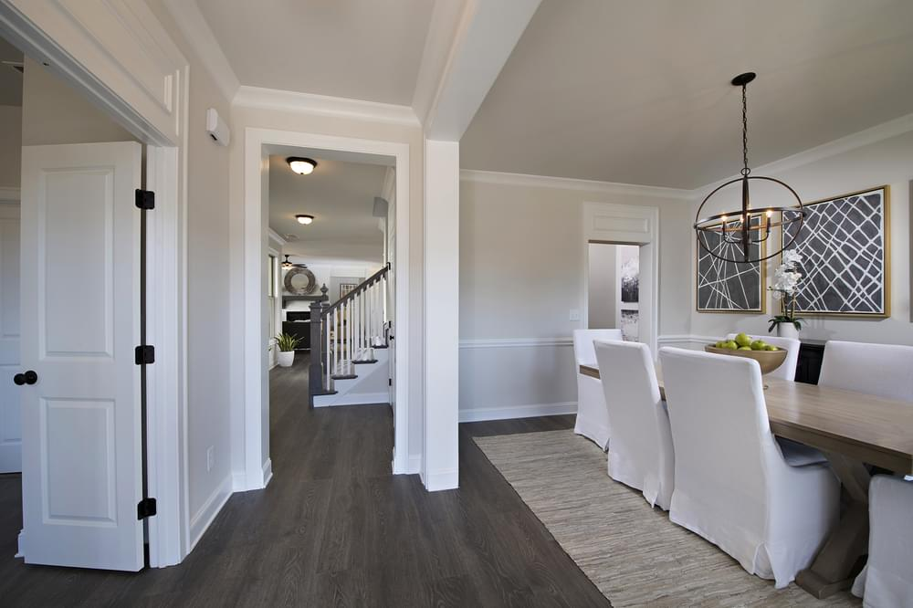 Crestwick Home Design Dining Room and Foyer. The Crestwick New Home in Johns Creek, GA