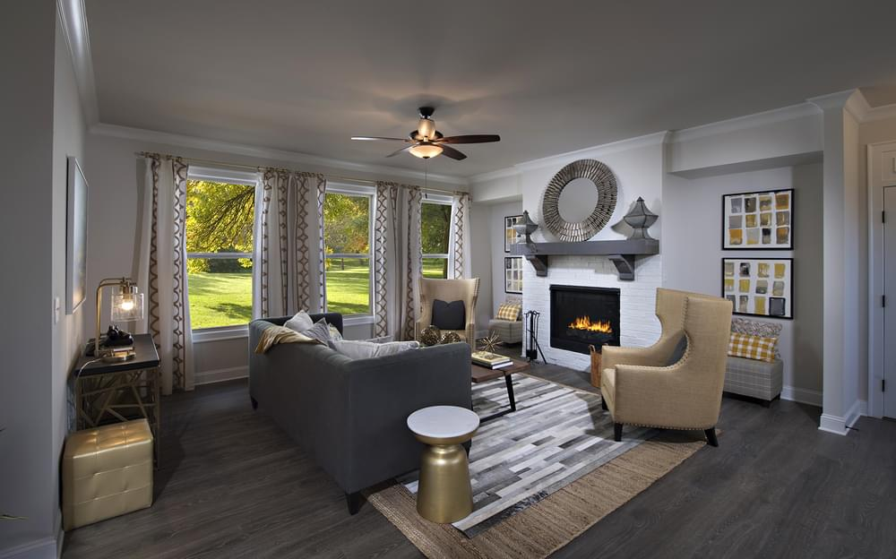Crestwick Home Design Family Room. 4br New Home in Johns Creek, GA