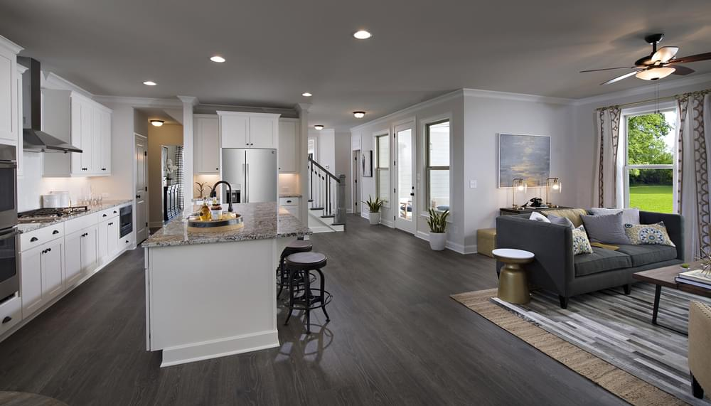 Crestwick Home Design Kitchen and Family Room. Johns Creek, GA New Home