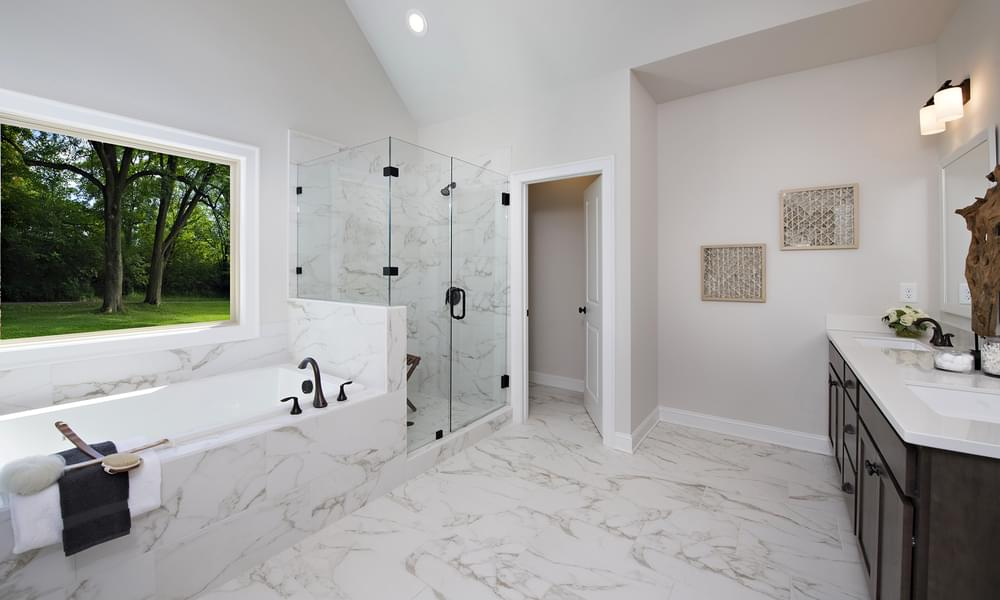 Crestwick Home Design Owner's Bath. Johns Creek, GA New Home