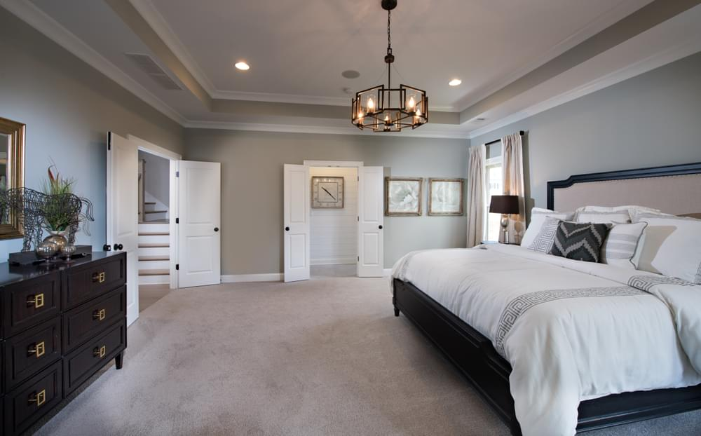 Mathews Home Design Owner's Suite. 3,765sf New Home in Johns Creek, GA