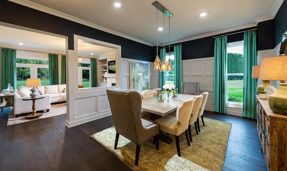 Montgomery Home Design Dining Room. 5br New Home in Johns Creek, GA