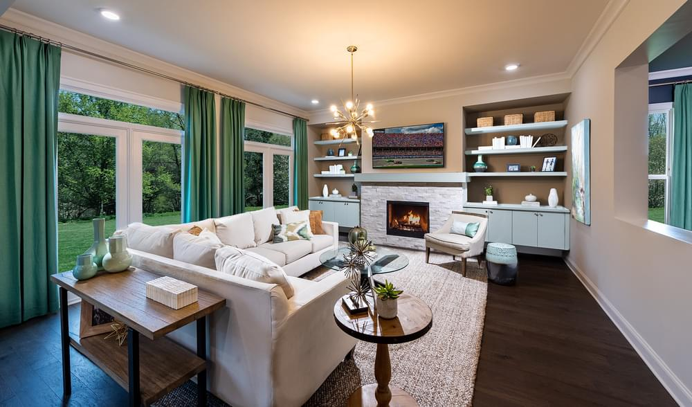 Montgomery Home Design Family Room. 5br New Home in Johns Creek, GA