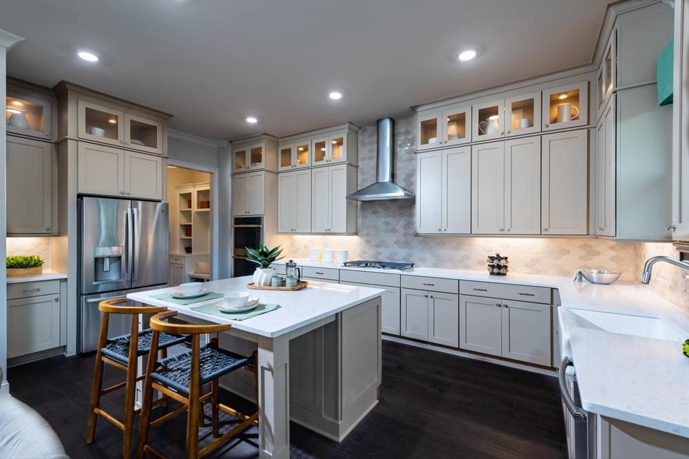 Montgomery Home Design Kitchen. 3,472sf New Home in Johns Creek, GA