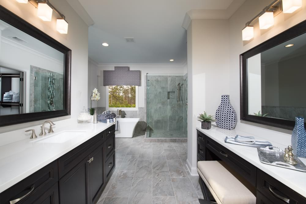 Montgomery Home Design Owner's Bath. 5br New Home in Johns Creek, GA