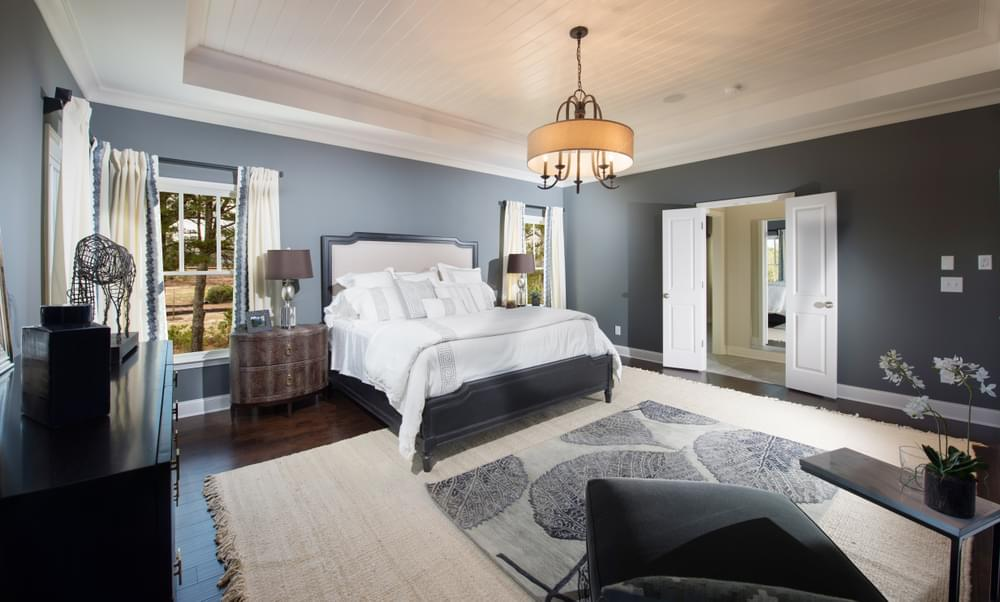 Montgomery Home Design Owner's Suite. 3,472sf New Home in Johns Creek, GA