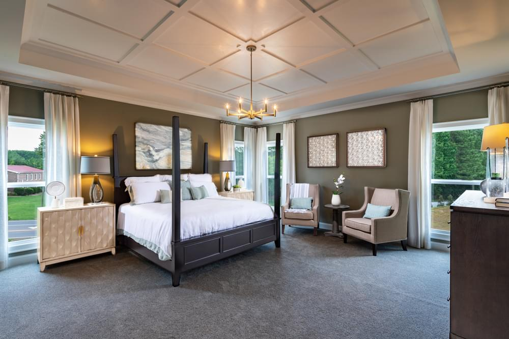 Montgomery Home Design Owner's Suite. New Home in Johns Creek, GA
