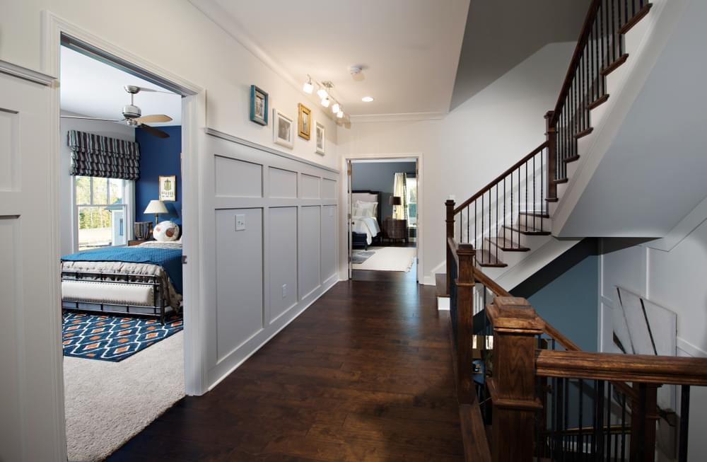 Montgomery Home Design Second Level Hallway. New Home in Johns Creek, GA