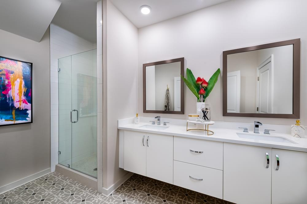 Courtland Owner's Bath. 1,318sf New Home in Atlanta, GA