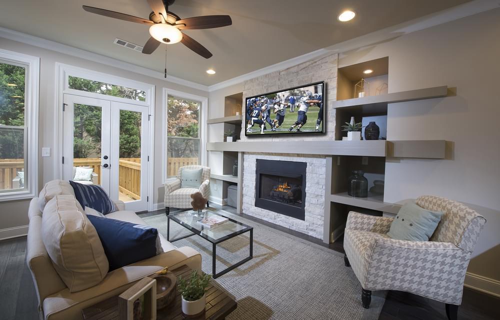 Foster Home Design Family Room. New Home in Smyrna, GA