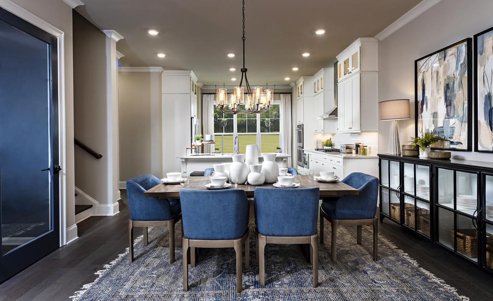 Sterling Home Design Dining Room. 2,963sf New Home in Alpharetta, GA