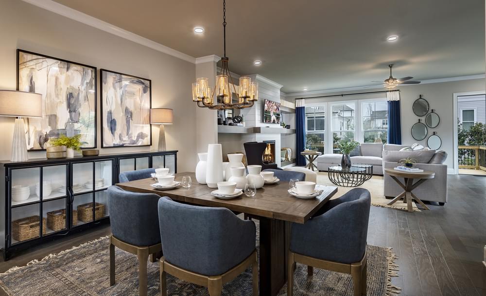 Sterling Home Design Dining Room. New Home in Alpharetta, GA