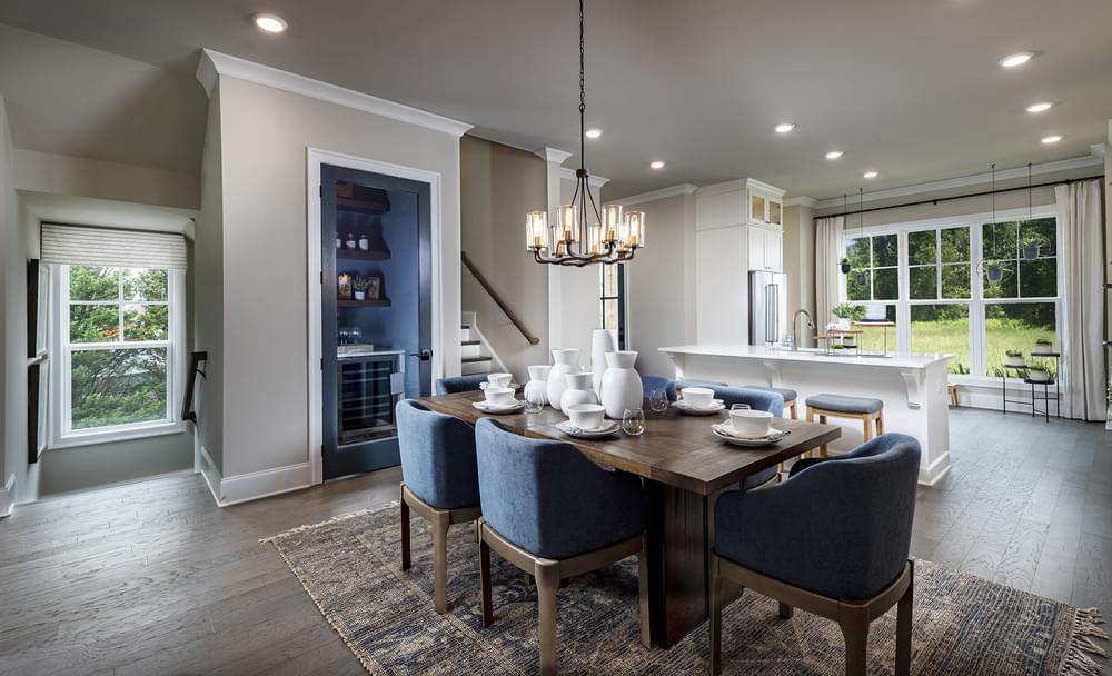 Sterling Home Design Dining Room. 3br New Home in Alpharetta, GA
