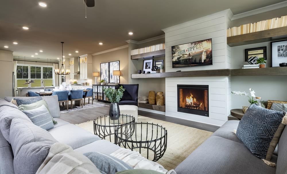 Sterling Home Design Family Room. Alpharetta, GA New Home