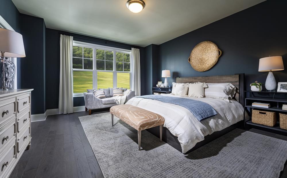 Sterling Home Design Guest Bedroom. 2,963sf New Home in Alpharetta, GA