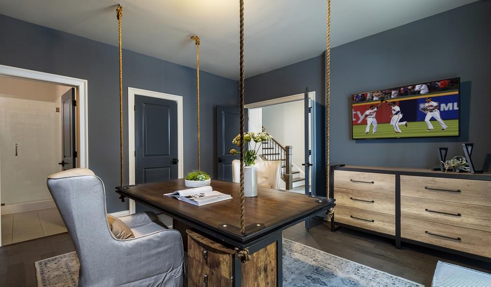 Sterling Home Design Terrace Level Bedroom/Home Office. 3br New Home in Alpharetta, GA