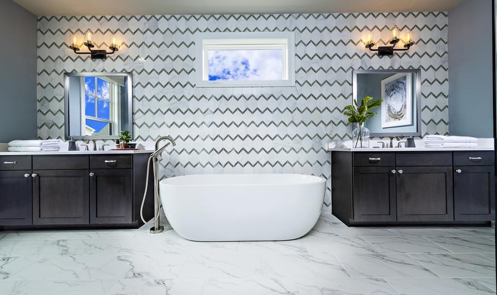 Sterling Home Design Owner's Bath. The Sterling New Home in Alpharetta, GA
