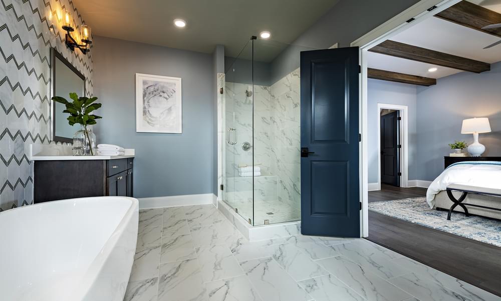 Sterling Home Design Owner's Bath. 2,963sf New Home in Alpharetta, GA