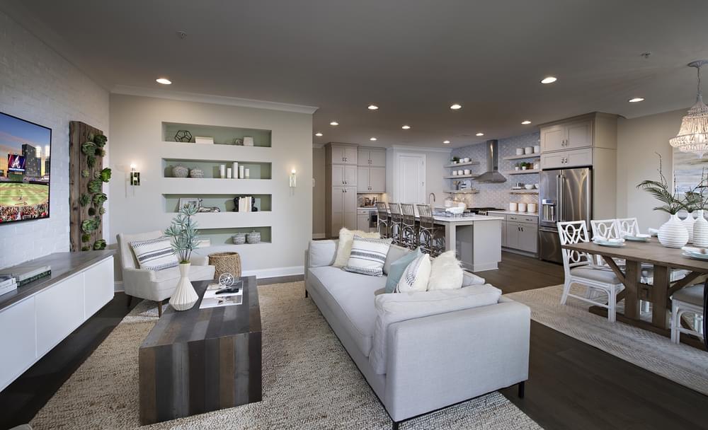 Stockton Home Design Family Room. 3br New Home in Suwanee, GA