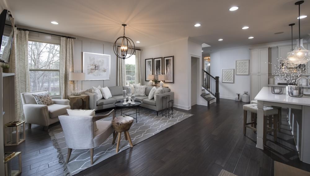 Stockton Home Design Family Room. The Stockton New Home in Suwanee, GA