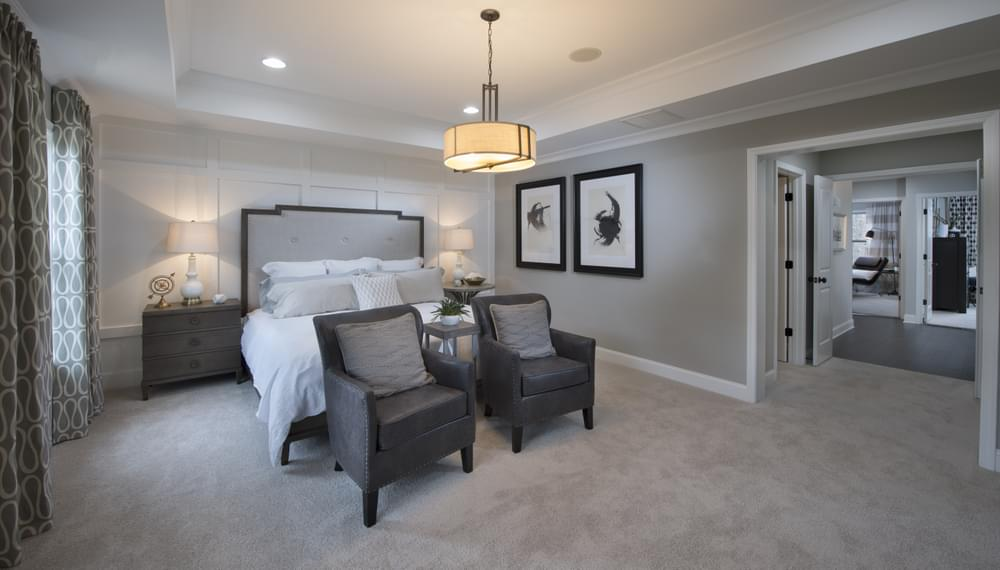Stockton Home Design Owner's Suite. 2,030sf New Home in Suwanee, GA