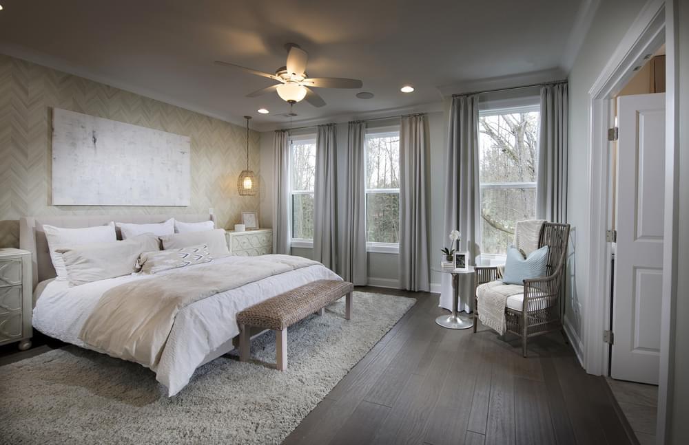 Stockton Home Design Owner's Suite. New Home in Suwanee, GA