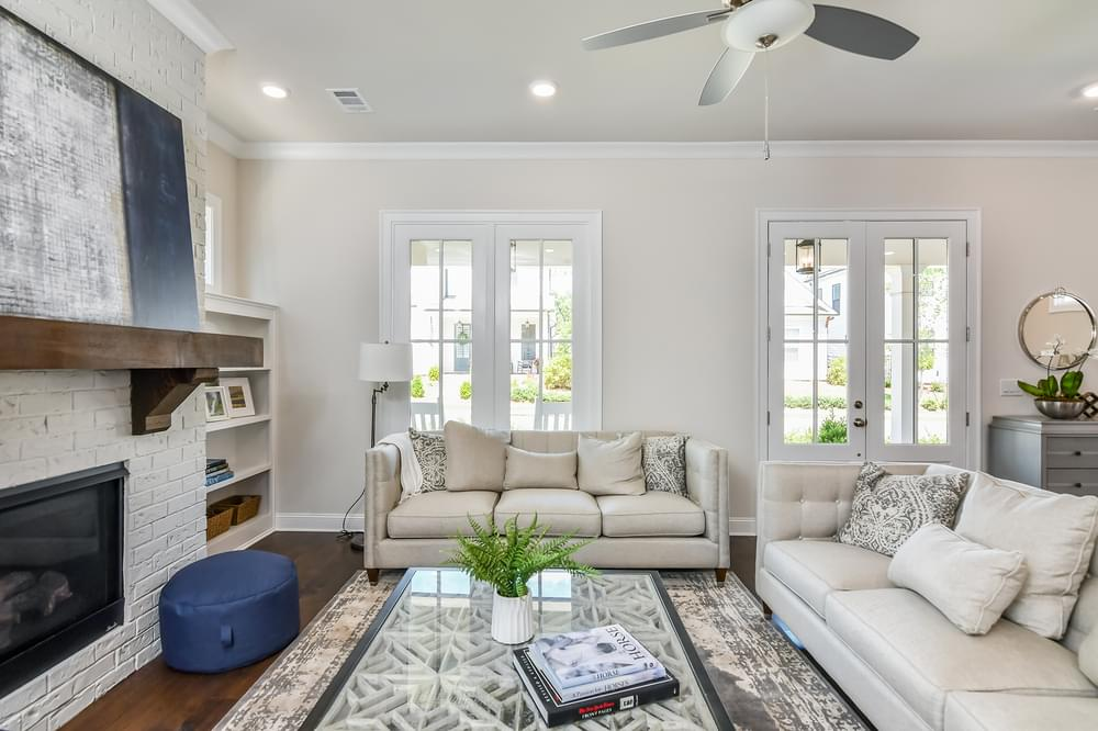 Weatherby Home Design Family Room. 2,970sf New Home in Canton, GA