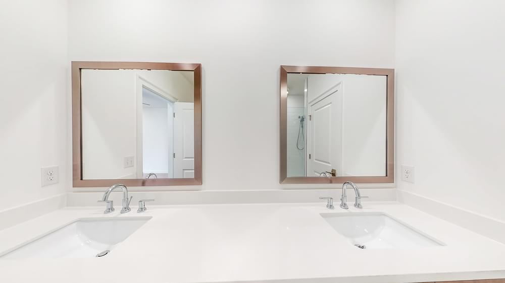 Brookhaven Home Design Owners' Bath Vanity. 2,236sf New Home in Atlanta, GA