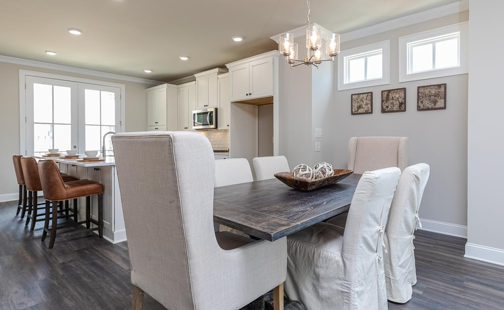 Graham Home Design Dining Room and Kitchen. Suwanee, GA New Home