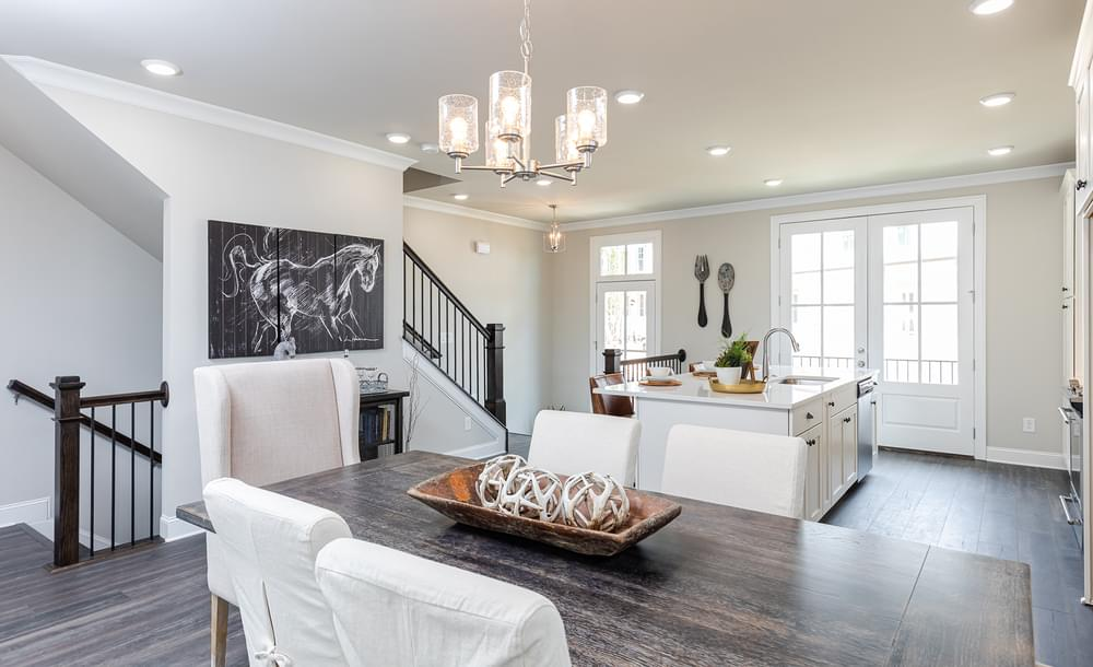 Graham Home Design Dining Room and Kitchen. New Home in Suwanee, GA