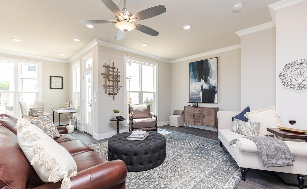 Graham Home Design Family Room. New Home in Suwanee, GA