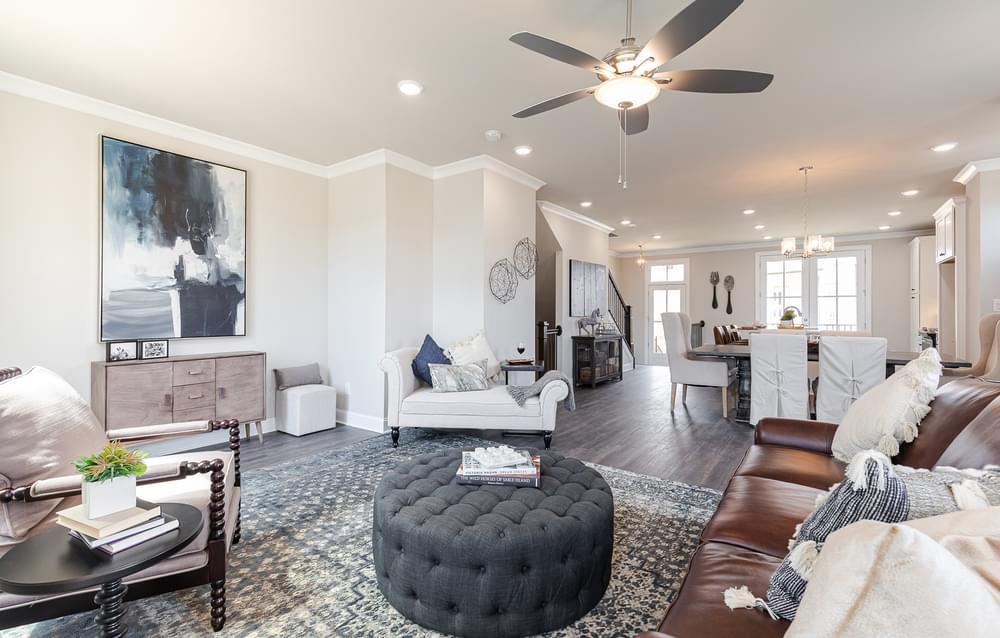 Graham Home Design Family Room. 2br New Home in Suwanee, GA