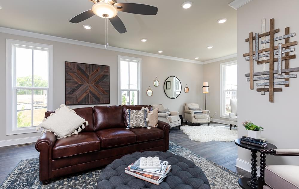 Graham Home Design Family Room. The Graham New Home in Suwanee, GA