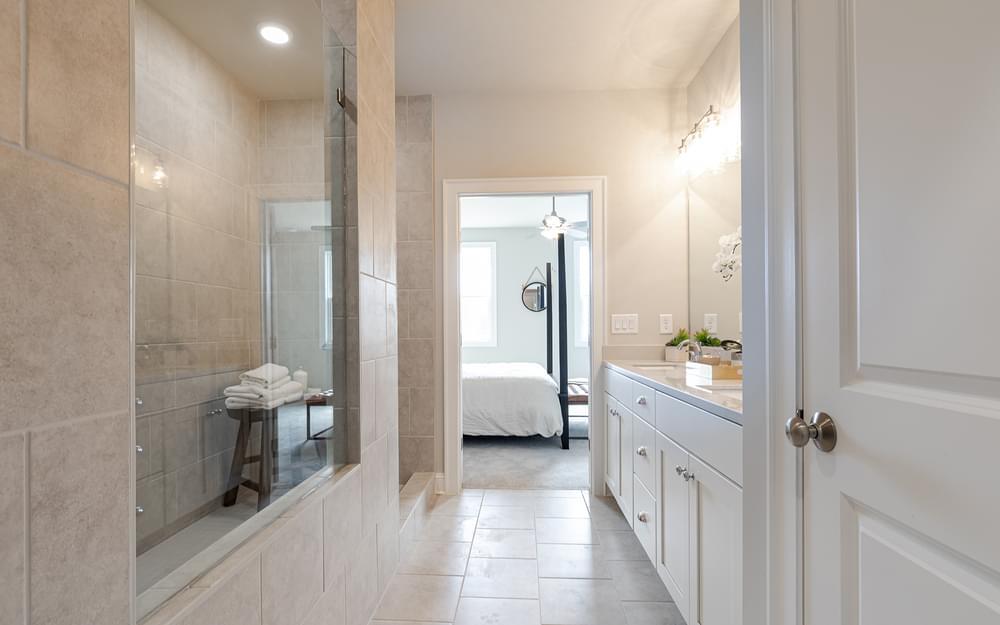 Graham Home Design Owner's Bath. 2br New Home in Suwanee, GA
