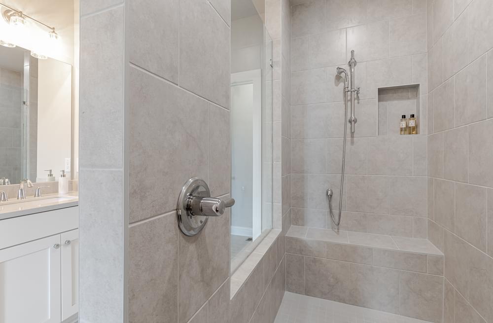 Graham Home Design Owner's Bath. The Graham New Home in Suwanee, GA