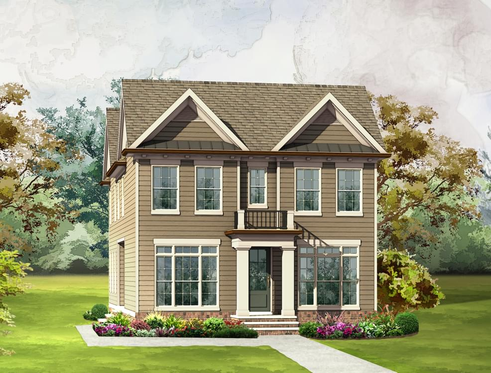 Elevation A. The Crestwick New Home in Johns Creek, GA