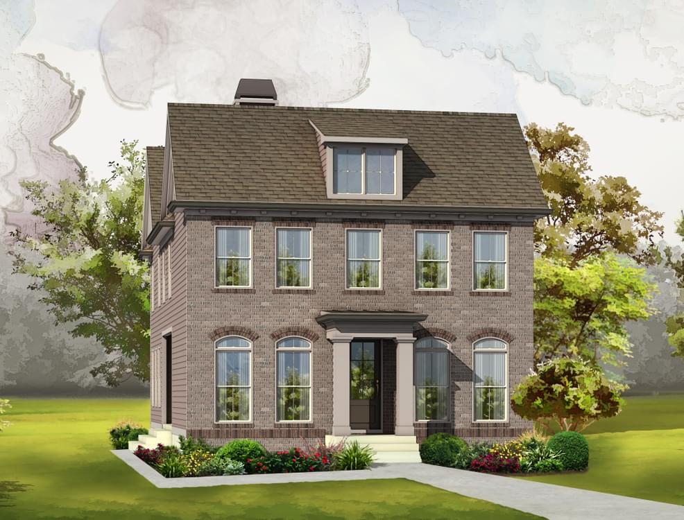 Elevation B . 4br New Home in Johns Creek, GA