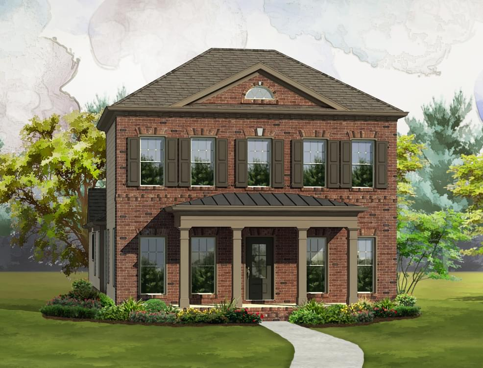Elevation D. 4br New Home in Johns Creek, GA