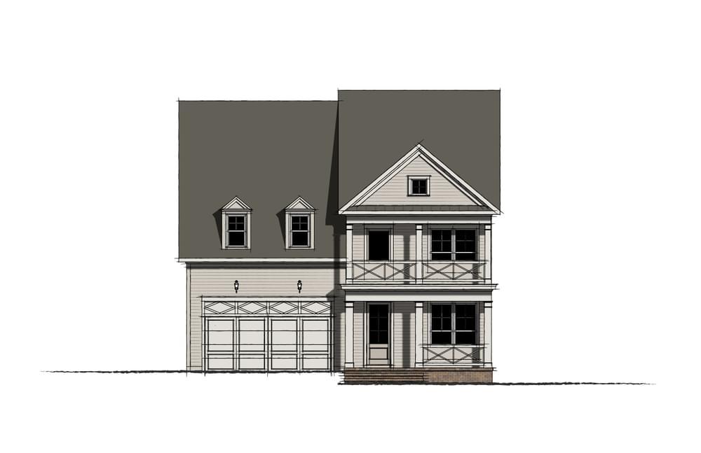Elevation I. The Calhoun New Home in Johns Creek, GA