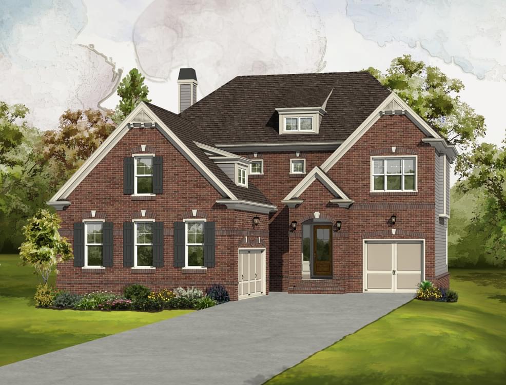 Elevation B. The Hamilton New Home in Johns Creek, GA