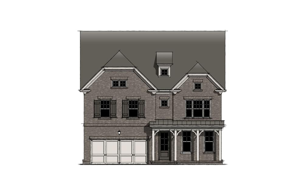 Elevation A. The Montgomery New Home in Johns Creek, GA