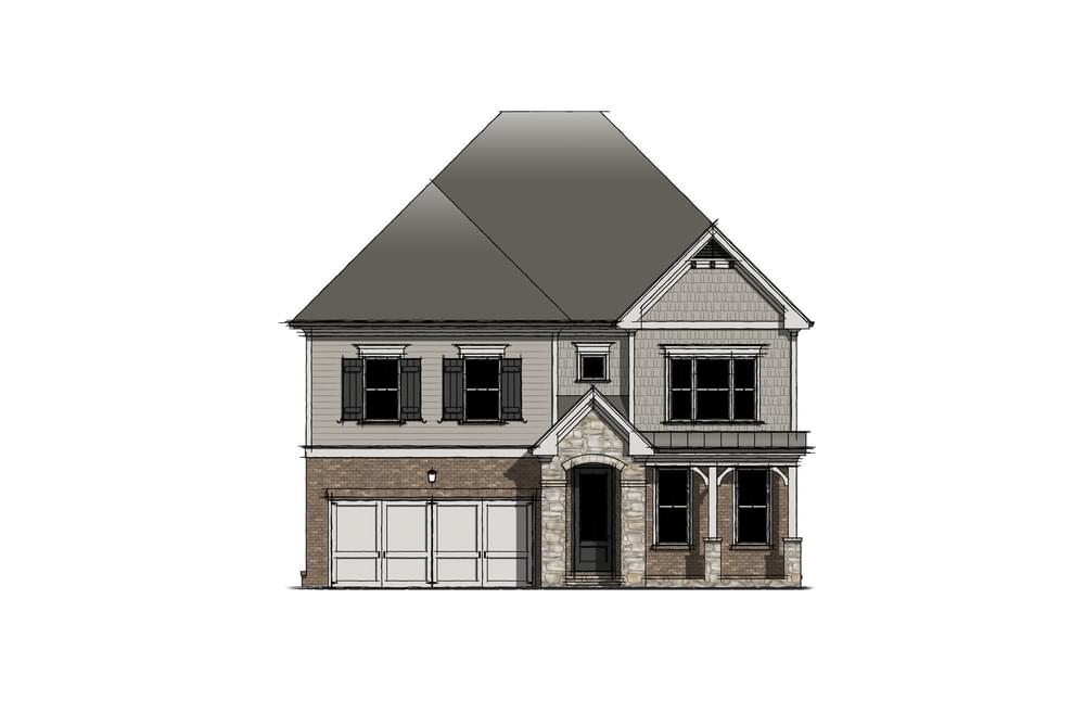 Elevation B. New Home in Johns Creek, GA