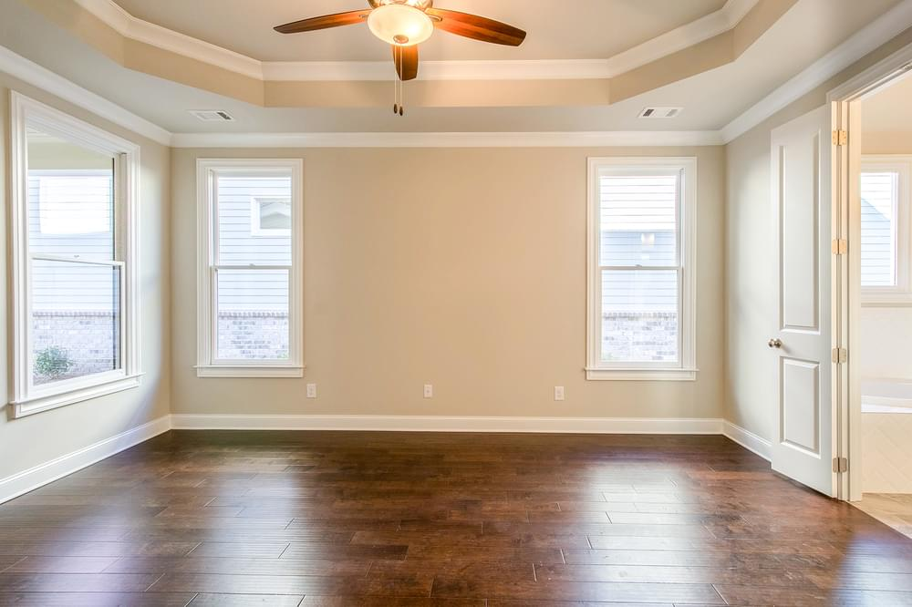 Kentmere Home Design Owner's Suite. New Home in Johns Creek, GA