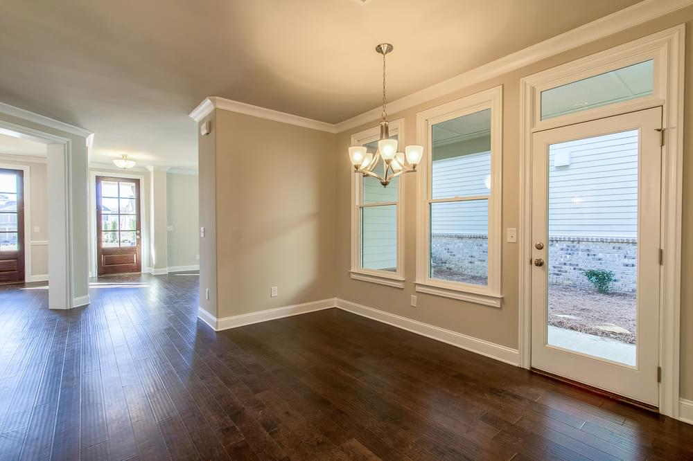 Kentmere Home Design Breakfast Room. New Home in Johns Creek, GA