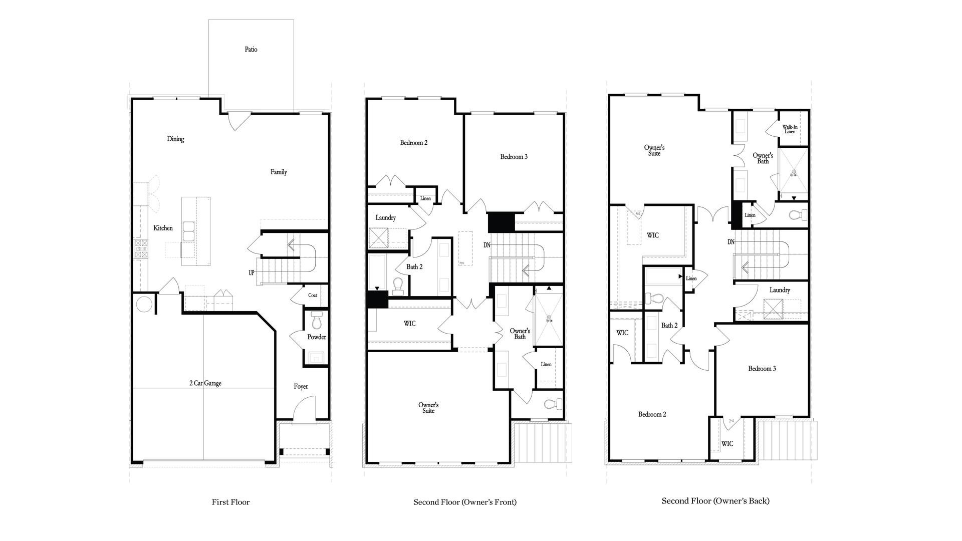 Floor Plans. 3br New Home in Suwanee, GA