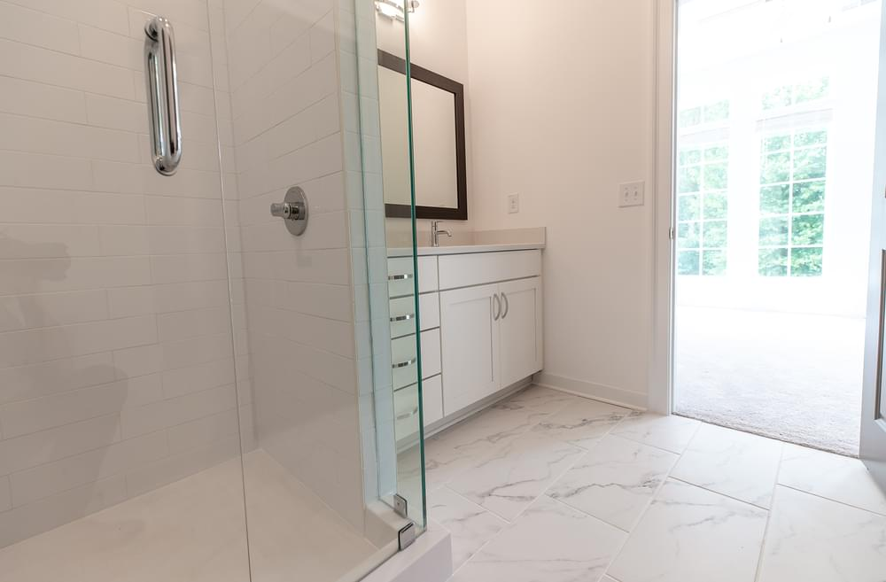 Edgehill Home Design Owner's Bath. 1br New Home in Alpharetta, GA
